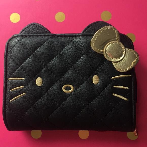 225a094e11023 Hello Kitty Bags | Black Wallet | Poshmark